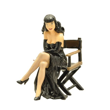 Figure Gaston with books, Resin 25 cm