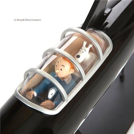 Schlüsselanhänger Rakete, 8,5cm - Tim und Struppi (Moulinsart 42428)