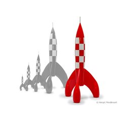 Figurine Tintin in trenchcoat, 8,5cm - Tintin collectible figurine (Moulinsart 42473)