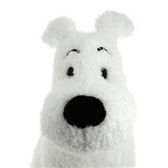 Keychain Snowy walking with bone, big