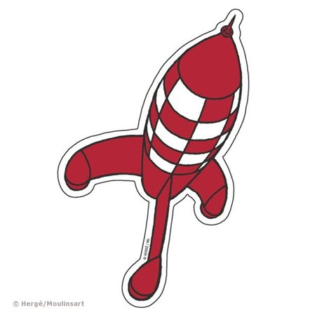 Figurine Snowy walking with bone, 4,5cm - Tintin collectible figurine (Moulinsart 42504)