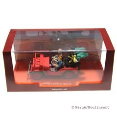 Figurine Album Scene - Tintin and Snowy go exploring
