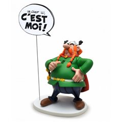 "Gaston Lagaffe Statue Resin: Gaston holding sign ""Il est interdit d'interdire"" (Plastoy 315)"