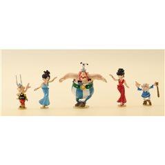 Figur Tim und Struppi Vase aus Blauer Lotus, 20 cm (Moulinsart 46401)