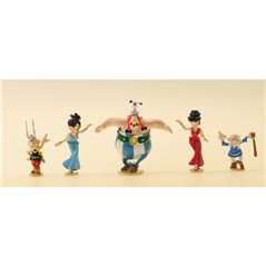 Tintin Statue Resin: Tintin and Snowy in The Chinese Vase Lotus Bleu, 20 cm (Moulinsart 46401)