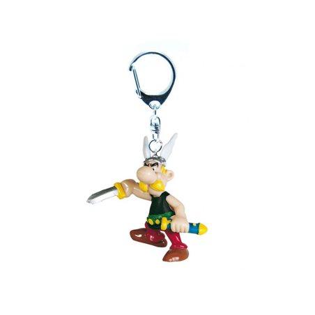 Figur Asterix auf Bücherstapel