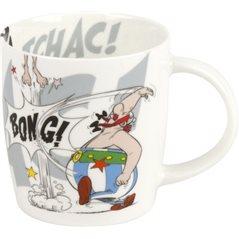 Asterix und Obelix Untersetzer Wildschweinjagt, 10x10 cm