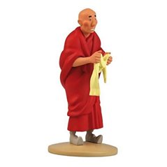 Polychrome Figur Tim und Struppi Mond-Rakete, 60 cm. Handbemalt  (Moulinsart 46994)