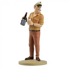 Polychrome Figur Tim und Struppi Mond-Rakete, 90 cm. Handbemalt  (Moulinsart 46993)