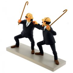 Tintin Collectible Comic Statue resin: Professor Calculus with his ear trumpet, 12 cm (Moulinsart 42216)