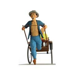 Metallfigur Captain Chester 6cm.  Tim und Struppi Kollektion Carte de Voeux (Moulinsart 46509)