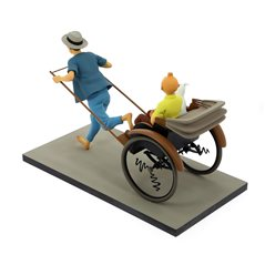 Metallfigur The Missionary Priest 6cm.  Tim und Struppi Kollektion Carte de Voeux 1972 (Moulinsart 46510)