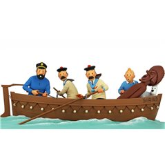 "Smurf Statue Resin: Smurf with sign ""No Stress!"", 12 cm (Plastoy 00149)"