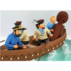 Figure Gaston with Motorrad, Resin