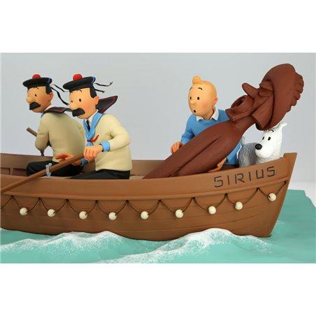 Collection Figurine Gaston on parcel box, resin (Plastoy 00316)