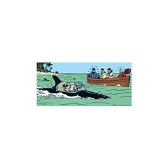 Tintin Bag: Recycled paper bag Tintin submarine, 42x20x44cm (Moulinsart 04243)
