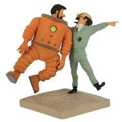 Recycelte Papiertasche Tim und Struppi Profil, 21x9x28cm (Moulinsart 04242)