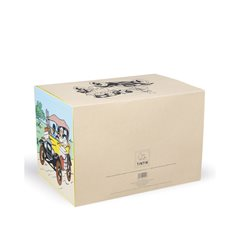 Tintin T-Shirt The lunar rocket in white, Size S-XL (Moulinsart 874)