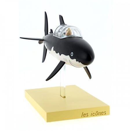 Collectible Figur Plastoy: Astérix next to a pile of comics (Plastoy 00128)