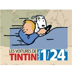 Figur Kunstharz Tim und Struppi im Sessel zu hause, 17 cm (Moulinsart 46404)