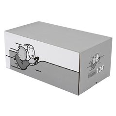 Tintin Blue Polar Plaid Blanket The Shark Submarine, 130x160 cm (Moulinsart 130329)