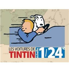 Metallfigur Flaggen Träger 6cm. Tim und Struppi Kollektion Carte de Voeux (Moulinsart 46513)