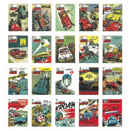 Puzzle Tintin: The Lunar Rocket take off with poster 50x67cm (Moulinsart 81549)