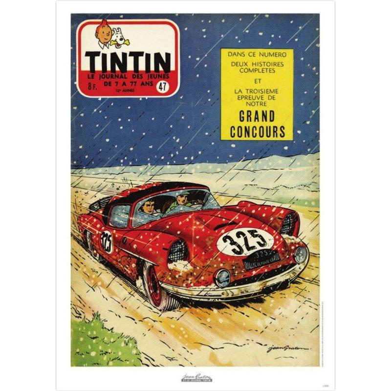 Tim und Struppi Postkarte: Tintin Destination Moon, 15x10cm (Moulinsart 34084)
