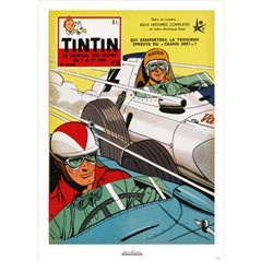Postcard Tintin Album: Explorers on the Moon, 15x10cm (Moulinsart 34085)