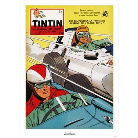 Postcard Tintin Album: Explorers on the Moon, 15x10cm (Moulinsart 34085)