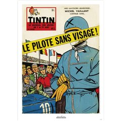 Collectible figure Fariboles Tintin and Snowy Astronaut on the Moon (Moulinsart 44023)