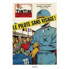 Figur Tim und Struppi als Astronauten auf dem Mond (Moulinsart 44023)