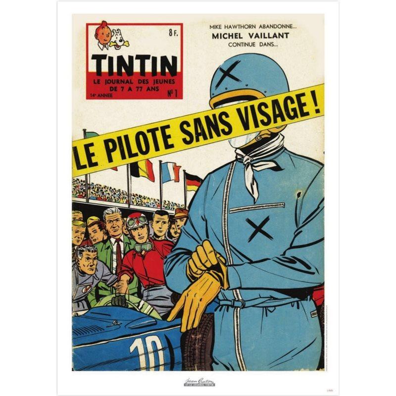 Collectible figure Fariboles Tintin and Snowy Astronaut on the Moon (Moulinsart 44023)