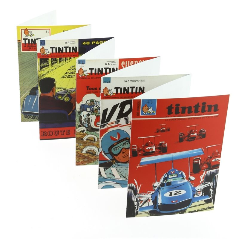 Set of 16 Postcards of the adventures of Tintin on the Moon (Moulinsart 31309)
