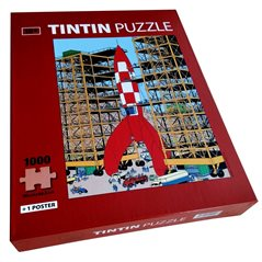 Keychain Tintin in astronaut space suit, 8 cm - The Adventures of Tintin (Moulinsart)