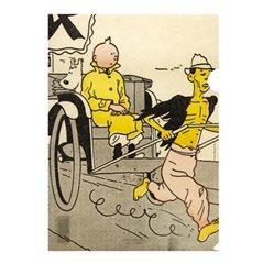 Polychrome Figur Tim und Struppi Mond-Rakete, 150 cm. Handbemalt (Moulinsart 46999)