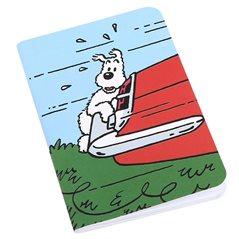 Metallfiguren Set Lagerfeuer aus Tim und Struppi im Kongo: Figuren, lithography und Kaffee Dose (Moulinsart)