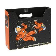 Metallfiguren Set Löwe aus Tim und Struppi im Kongo: Figuren, lithography und Kaffee Dose (Moulinsart)