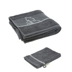 Tintin Magnet: Tintin with Haddock and Snowy on the Moon (Moulinsart 16025)