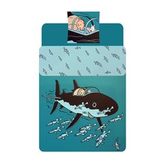 Set of 5 decorative fridge magnets of Tintin at the Moulinsart Castle (Moulinsart 16024)