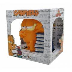 Chibi Spardose Garfield mit Pizzas, 12,5cm (Plastoy 80051)