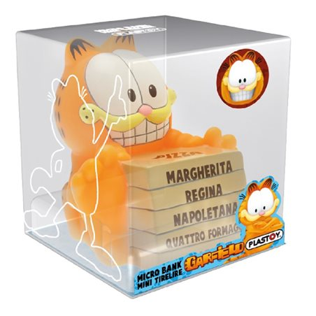 Moneybank Garfield with Pizzas, 19 cm (Plastoy 80050)