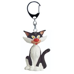 "Smurf Statue Resin: Smurfette with sign ""UN PEU, BEAUCOUP,..."" (Plastoy 144)"