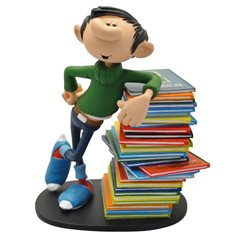 "Smurf Statue Resin: Smurf with sign ""COMMENT CA SCHTROUMPF ?"" (Plastoy 146)"