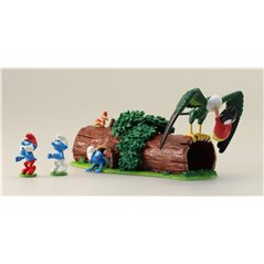 Collectible Scene Pixi The Smurfs ice skateing (Pixi 6455)