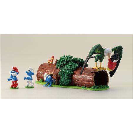 Collectible Scene Pixi The Smurfs ice skateing (Pixi 6455)