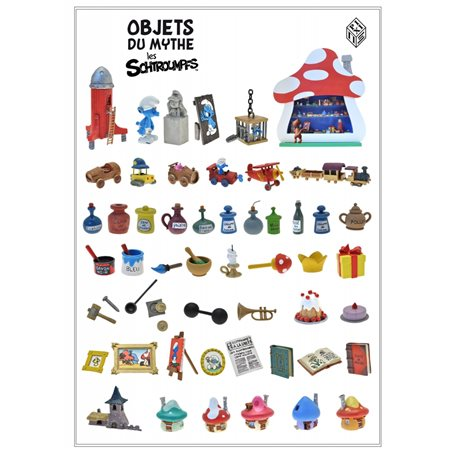 Collectible Scene Pixi The Smurfs the battle of snowballs (Pixi 6456)