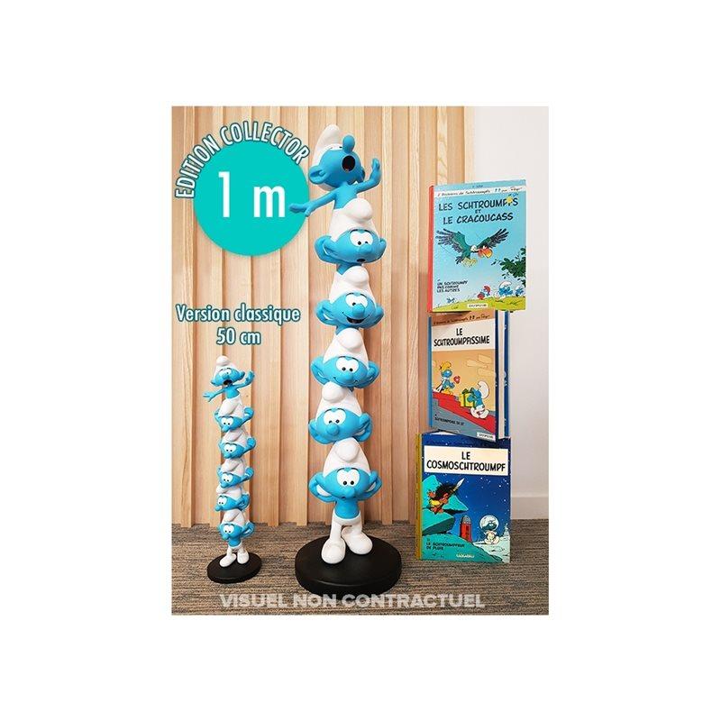 Figur Obelix mit Bücherstapel (Plastoy 00124)