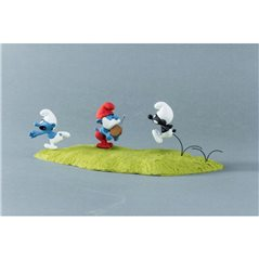 Tintin Figurine: Snowy with Message, 4cm (Moulinsart 42510)