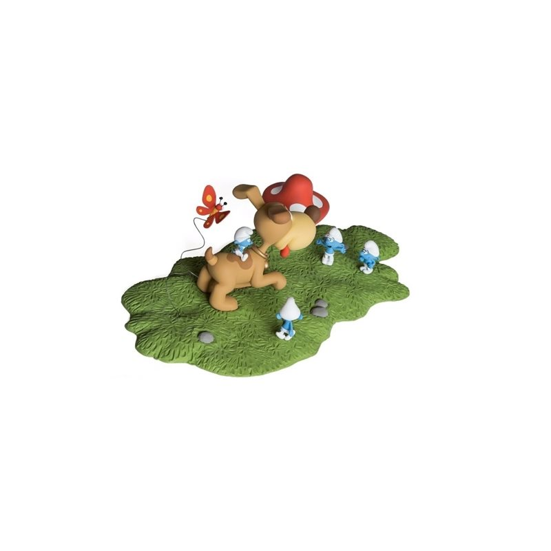 Keychain Tintin fetches Snowy, 8 cm - The Adventures of Tintin (Moulinsart)